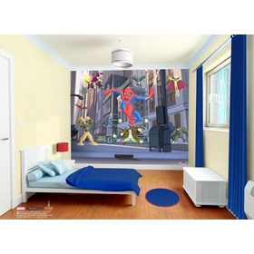 3D SPIDERMAN SPECTACULAR Wall Mural, Walltastic