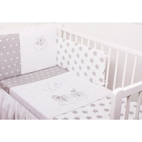 3-Piece Baby Cot Bedding Set - Silver Star, Gluck Baby