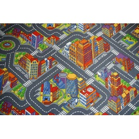 BIG CITY Children's Rug - Grey