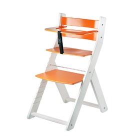 Children growing chair LUCA - orange, Wood Partner