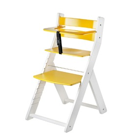 Children growing chair LUCA - yellow, Wood Partner
