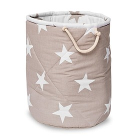 Basket to toys - Beige star, funwithmum