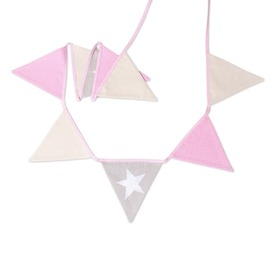 Fabric garland - Pink star, funwithmum