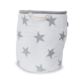 Basket to toys - gray star, funwithmum