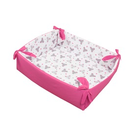 Playpen / game blanket mice pink, Gluck Baby