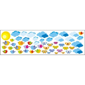 Envelope decoration Clouds a birds - 0,5 m2