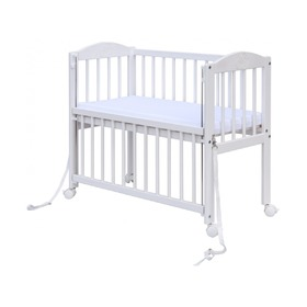 BABY Scarlett Baby Cot for Parent's Bed - White