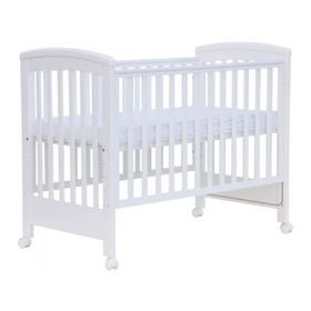 Baby cot with removable side Scarlett Laura - white, Scarlett