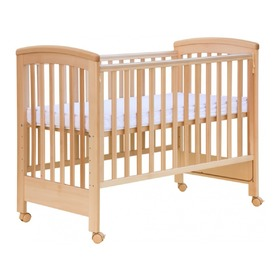 Scarlett Laura Baby Cot with Removable Side - Natural