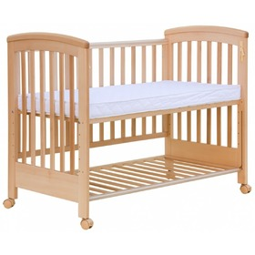 Scarlett Laura Baby Cot with Removable Side - Natural, Scarlett