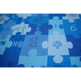 Jigsaw Puzzle Children's Rug - Blue