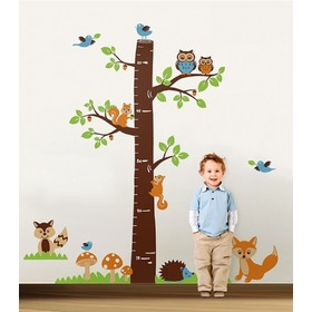 Wall Decoration - Tree with Fox Height Chart, Amsaid