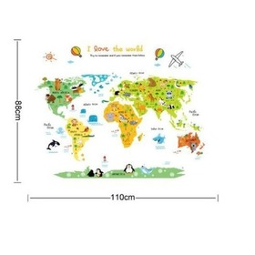 Wall Decoration - World Map, Amsaid