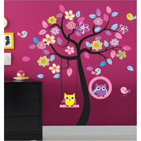 Wall Decoration - Owls on Swings, Amsaid