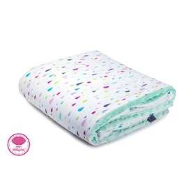 Warm children's blanket Colorful drops - different color, Makaszka