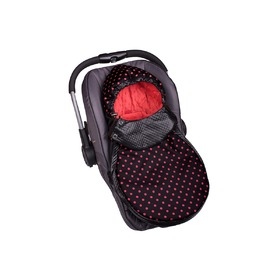 Minky Car Seat Footmuff - Red, Gluck Baby