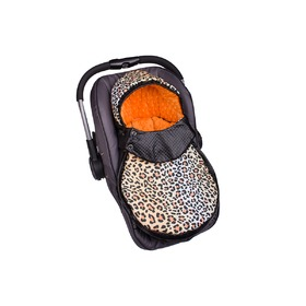 Minky Car Seat Footmuff - Orange