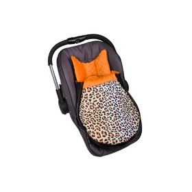 Minky Car Seat Footmuff - Orange, Gluck Baby