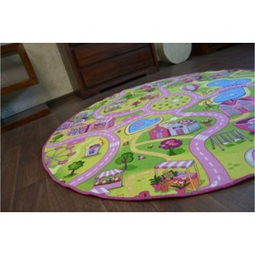 Sweet Town Round Children's Rug