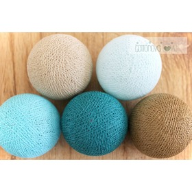 Cotton Balls - Turquoise, cottonovelove