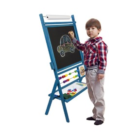 Blue Children's Magnetic Easel, 3Toys.com