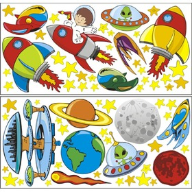 Envelope decoration Universe