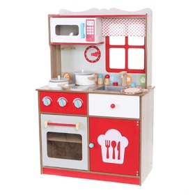 Children's Wooden Kitchen with Accessories, EcoToys