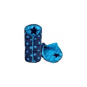 Children's fleece jacket Stars - turquoise, Podlasiak