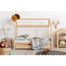 Children bed house with drawer Mila, ADEKO STOLARNIA