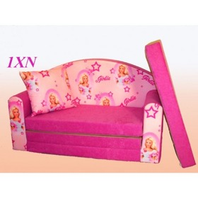 Exclusive 1 Children's Sofa Bed - Pink , Eland, Barbie