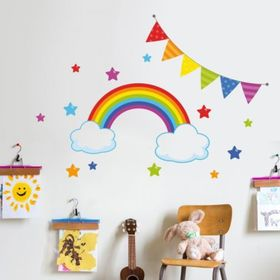 Sticker to wall - Rainbow a stars, Housedecor
