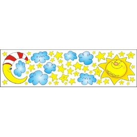 Window stickers - sun month stars - 0,3 m2