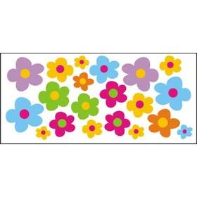 Window stickers - colorful flowers - 0,3 m2