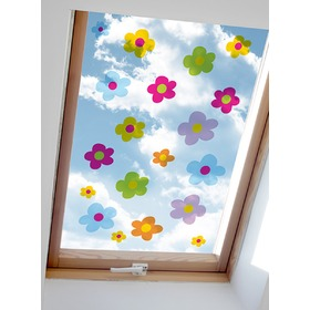 Stickers to window - Bouquets colors - 0,3 m2