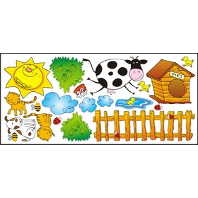 Stickers to window - Farm pattern 1 - 0,3 m2