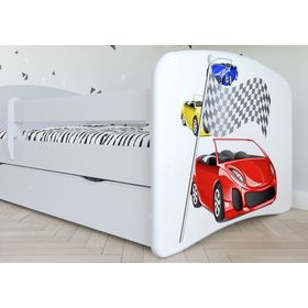 Children bed with barrier - Ferrari, All Meble