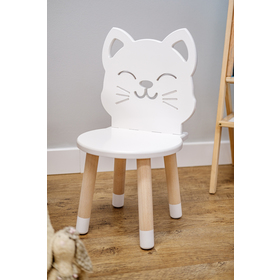 Children's chair - Cat - white, Ourbaby