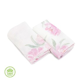 Children muslin diapers Peonies, Makaszka