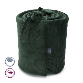 Mantinel to Crib Life in the woods - dark green, Makaszka