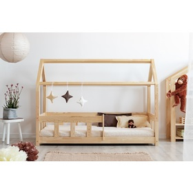 Children bed house with barrier Mila Classic, ADEKO STOLARNIA
