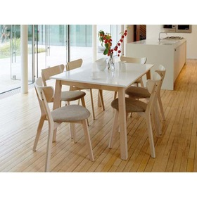 Dining table NARVIK bleached oak / white, SIGNAL MEBLE