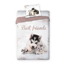 Children bedding Best friends - puppy Husky a kitten, Faro