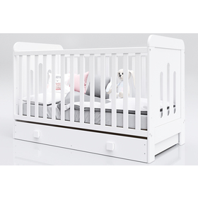 Baby cot Zuza 140x70 cm with couch side