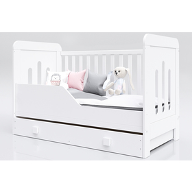 Baby cot Zuza 140x70 cm with couch side, Pietrus