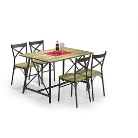 Reliant 1+4 Dining Furniture Set, Halmar
