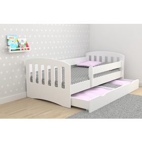 Bed classic for children - powder pink