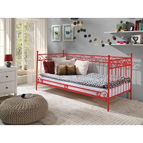 Metal bed model 2 S red, Lak system