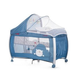 CHIPOLINO Casida Play Pen and Crib Travel Cot - Blue Bear, CHIPOLINO LTD.