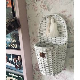 LILU Wicker basket to wall LU - white, LILU