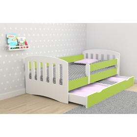 Classic Children's Bed - Green, All Meble